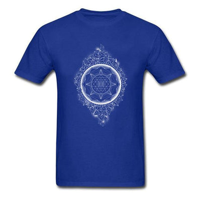 Sacred Geometry Sri Yantra T-shirt Blue / S Clothing