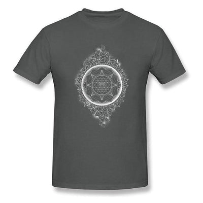 Sacred Geometry Sri Yantra T-shirt Dark Grey / S Clothing