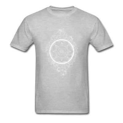 Sacred Geometry Sri Yantra T-shirt Gray / S Clothing