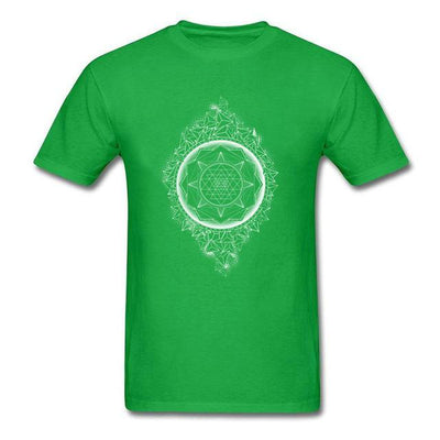 Sacred Geometry Sri Yantra T-shirt Green / S Clothing