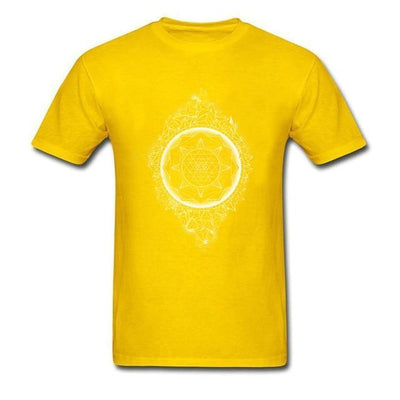 Sacred Geometry Sri Yantra T-shirt Yellow / S Clothing