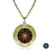 Sacred Sri Yantra Locket Pendant Necklace Necklace