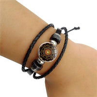 Sacred Sri Yantra Multilayer Leather Bracelet Bracelet