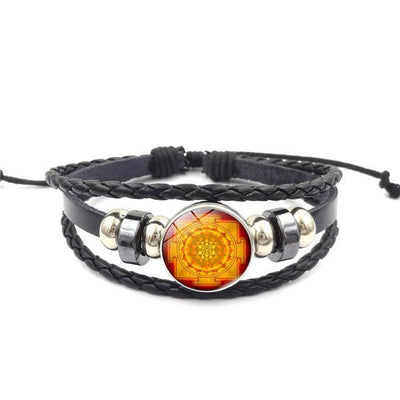Sacred Sri Yantra Multilayer Leather Bracelet style11 Bracelet