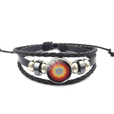 Sacred Sri Yantra Multilayer Leather Bracelet style9 Bracelet