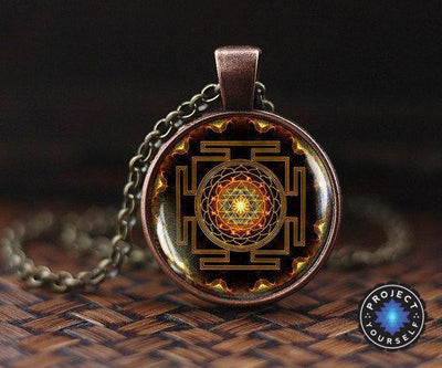 Sacred Sri Yantra Necklace + Pendant Sri Yantra Necklace