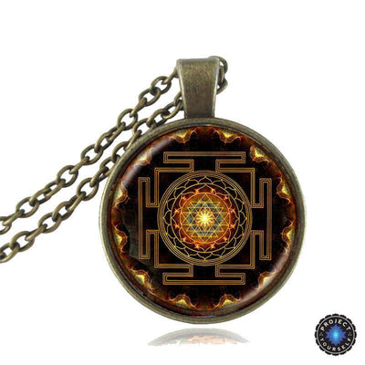 Sacred Sri Yantra Necklace + Pendant Style 1 Sri Yantra Necklace