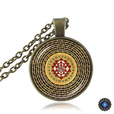 Sacred Sri Yantra Necklace + Pendant Style 2 Sri Yantra Necklace