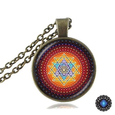 Sacred Sri Yantra Necklace + Pendant Style 3 Sri Yantra Necklace