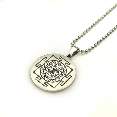 Sacred Sri Yantra Stainless Steel Necklace Necklace