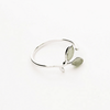 Seedling of Life Sterling Silver Opal Ring Rings