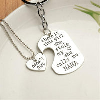 """She Stole My Heart"" Necklace & Keychain Set Nana Keychains"
