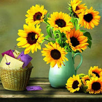 Shimmering Flowers DIY Diamond Painting Sunflower / 30*30cm Decor