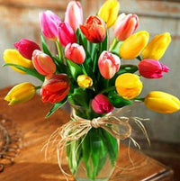 Shimmering Flowers DIY Diamond Painting Tulip / 30*30cm Decor