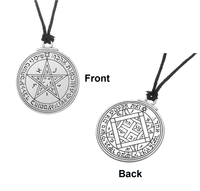 Silver Love Talisman Key of Solomon: Second and Fourth Pentacle of Venus Pendant Necklace Necklace
