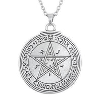Silver Love Talisman Key of Solomon: Second and Fourth Pentacle of Venus Pendant Necklace Silver Link Chain Necklace