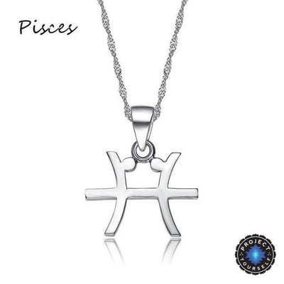 Silver Plated Zodiac Pendant Necklace Pisces Necklace