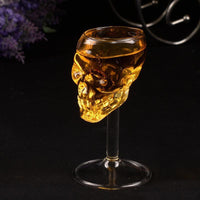 Skull Head Party Glass Costume