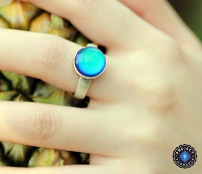 Solitaire Mood Ring Rings