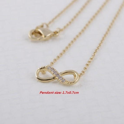 Sparkling Infinity Necklace Necklace