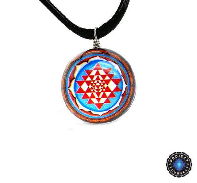 Sri Yantra Glass Globe Pendant Necklaces Style 3 Sri Yantra Necklace