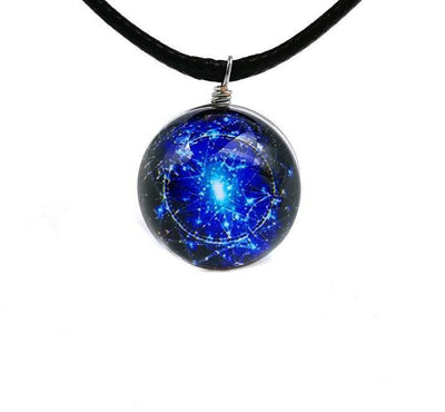 Sri Yantra Glass Globe Pendant Necklaces Style 6 Sri Yantra Necklace