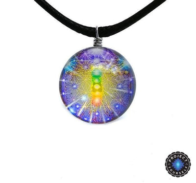 Sri Yantra Glass Globe Pendant Necklaces Style 9 Sri Yantra Necklace