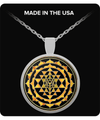 Sri Yantra Necklace Round Pendant Necklace Necklace