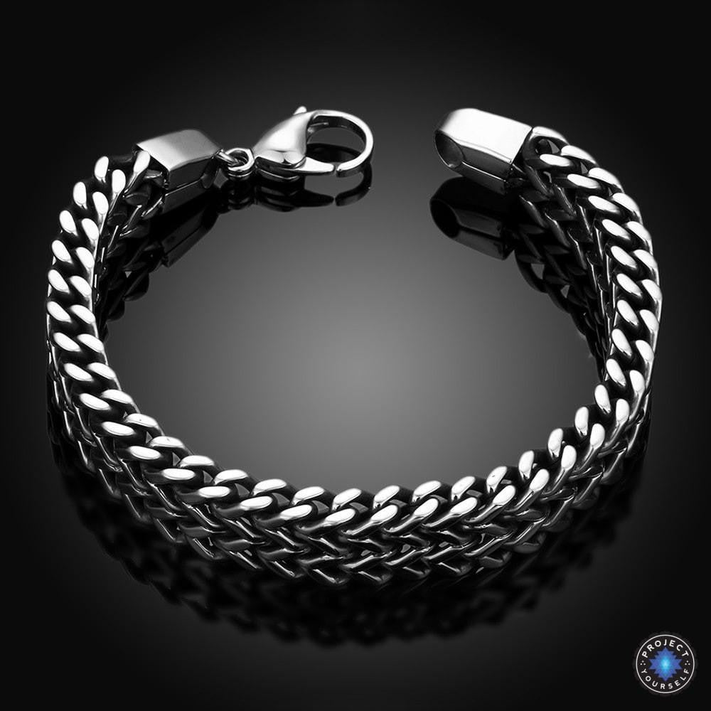 Stainless Steel Double Side Snake Chain Bracelet Project Yourself