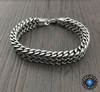 Stainless Steel Double Side Snake Chain Bracelet Bracelet