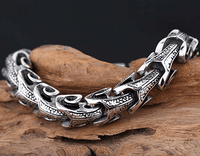 Stainless Steel Dragon Hide Necklace Necklace