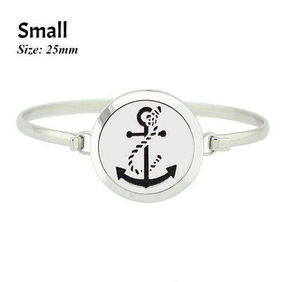 Stainless Steel Essential Oil Aromatherapy Bangle Anchor Small Bracelet