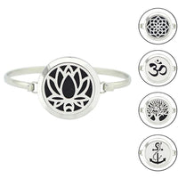 Stainless Steel Essential Oil Aromatherapy Bangle Bracelet