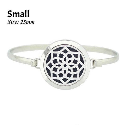 Stainless Steel Essential Oil Aromatherapy Bangle Mandala Small Bracelet