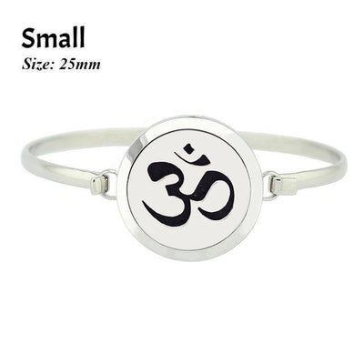 Stainless Steel Essential Oil Aromatherapy Bangle Om Small Bracelet