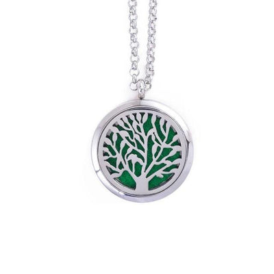 Stainless Steel Essential Oil Diffuser Locket Necklace for Aromatherapy Tree of Life Diffuser Locket Necklace