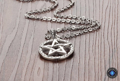 58052c9c38915 Stainless Steel Five Point Star Pentagram Pendant Necklace - Project ...