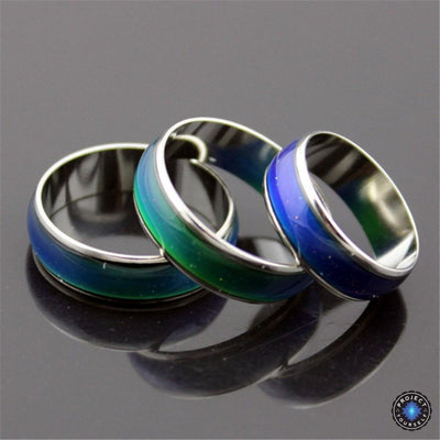 Stainless Steel Silver Galaxy Mood Ring 5.25 Rings