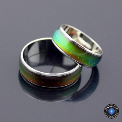 Stainless Steel Silver Galaxy Mood Ring Rings