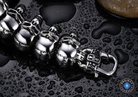 Stainless Steel Skull Links Chain Bracelet Bracelet