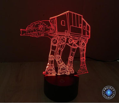 Star Wars 3D Lights Color Changing LED Lamp STYLE - ATAT 3D Lights