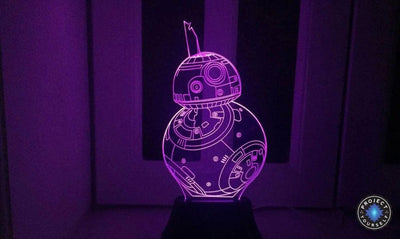Star Wars 3D Lights Color Changing LED Lamp STYLE - BB8 3D Lights