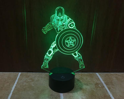 Star Wars 3D Lights Color Changing LED Lamp STYLE - CAPTAIN 2 3D Lights