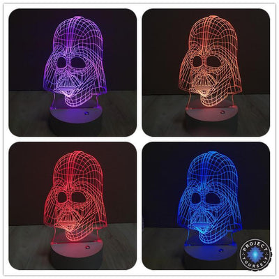 Star Wars 3D Lights Color Changing LED Lamp STYLE - DARTH V 3 3D Lights