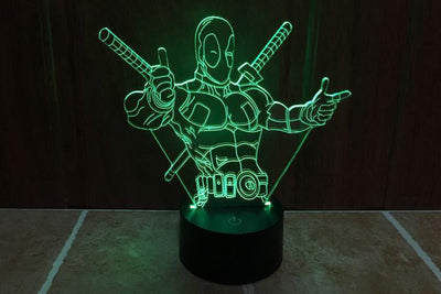Star Wars 3D Lights Color Changing LED Lamp STYLE - DEADPOOL 3 3D Lights