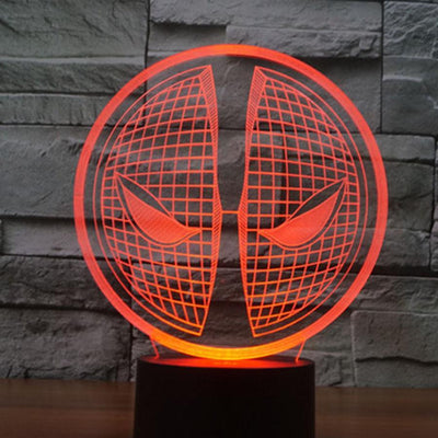 Star Wars 3D Lights Color Changing LED Lamp STYLE - DEADPOOL NEW 3D Lights