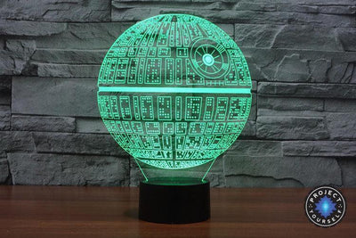 Star Wars 3D Lights Color Changing LED Lamp STYLE - DEATH STAR 3D Lights