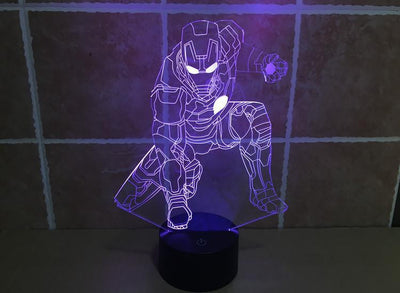Star Wars 3D Lights Color Changing LED Lamp STYLE - IRONMAN 2 3D Lights