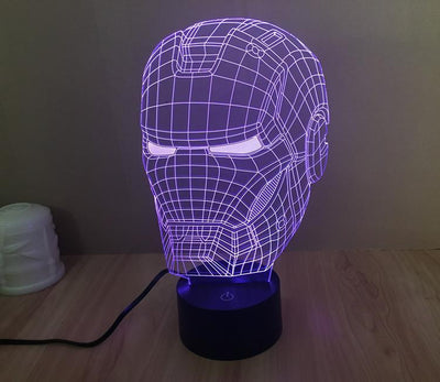 Star Wars 3D Lights Color Changing LED Lamp STYLE - IRONMAN 3D Lights