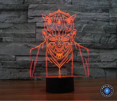 Star Wars 3D Lights Color Changing LED Lamp STYLE - JEDI 3D Lights
